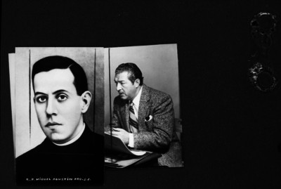 Retratos de el Padre Miguel Agustín Pro Juárez y otro individuo, reprografía