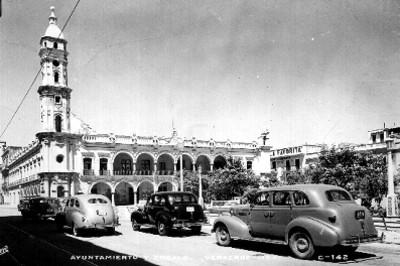 Edificio del ayuntamiento de Veracruz, vista parcial