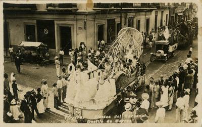 """Fiestas del Carnaval. Desfile de Carros"", tarjeta postal"