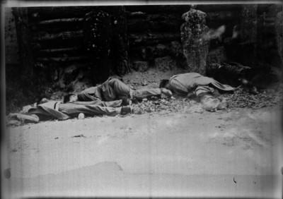 Los cadáveres de los hermanos Pro Juárez, Luis Segura y Juan Tirado Arias