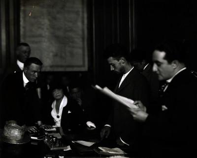 José de León Toral durante su juicio