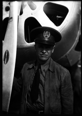 Piloto aviador, retrato