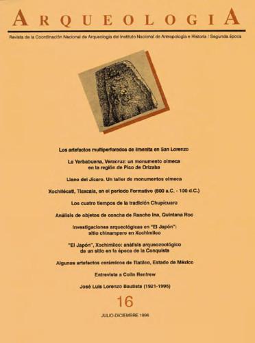Arqueología Núm. 16 (1996) Segunda época