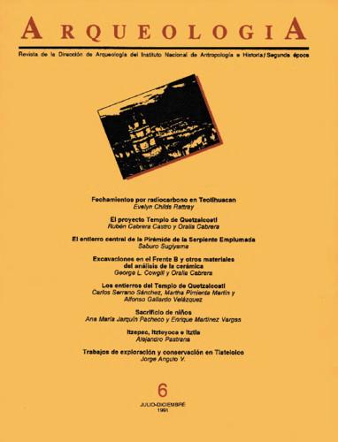 Arqueología Núm. 6 (1991) Segunda época