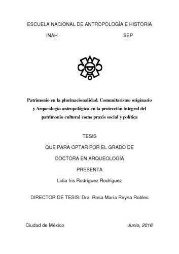 Patrimonio en la plurinacionalidad. Comunitarismo originario y arqueología antropológica en la protección integral del patrimonio cultural como praxis social y política