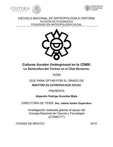 Culturas Aurales Underground en la CDMX