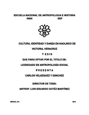 Cultura, identidad y danza en Naolinco de Victoria, Veracruz